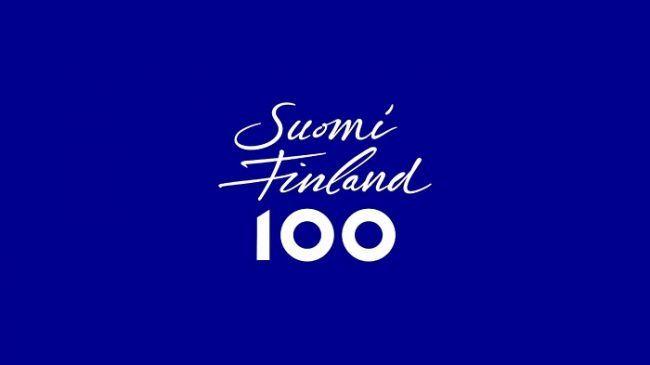 Logo de los 100 años de Independencia de Finlandia