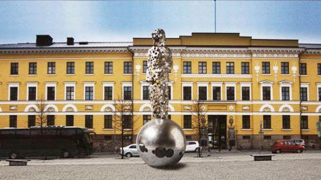 Monumento en memoria de los que lucharon y murieron en la Guerra de Invierno en Helsinki Diseñado por el escultor Pekka Kauhanen