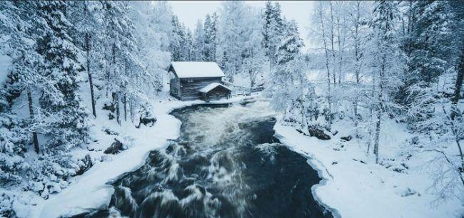 El antiguo molino de Myllykoski en el parque nacional de Oulanka