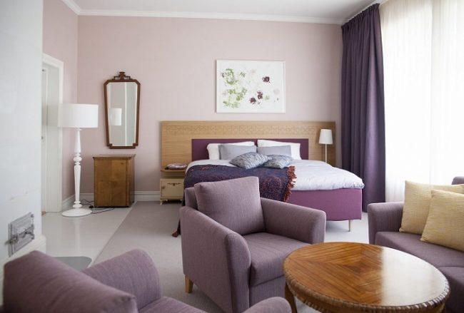 Una de las habitaciones del hotel Punkaharju