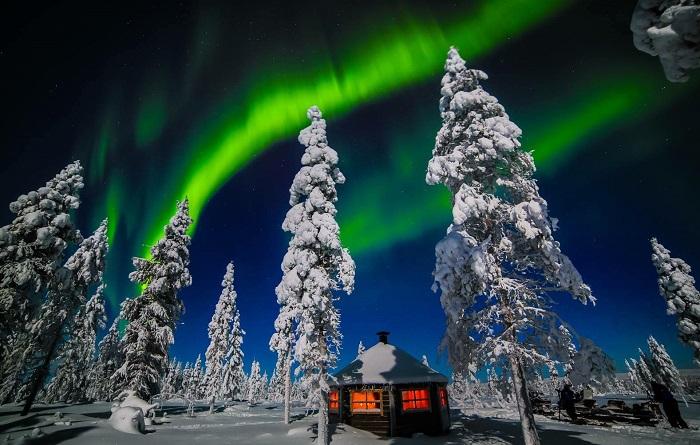 Wilderness Hotel Muotka, en un lugar de Saariselkä.