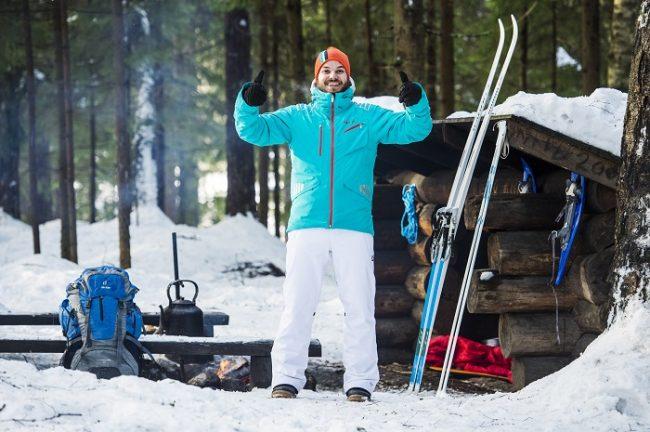 Esta sería una buena manera de vestirse para visitar Laponia en invierno