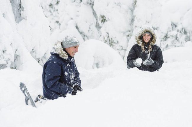 La nieve invita a la diversión