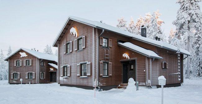 Aspecto de las villas durante el invierno