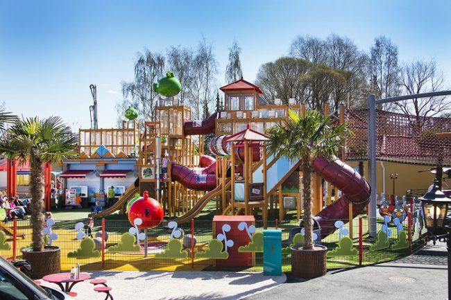 El parque de los Angry Birds en el parque de atracciones de Särkänniemi