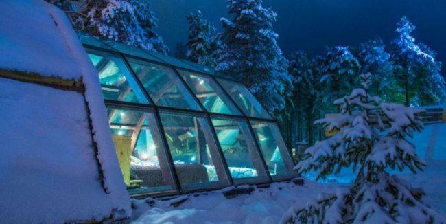 Iglú de cristal del hotel Ilveslinna