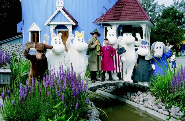 Los personajes de Moomin esperan tu visita