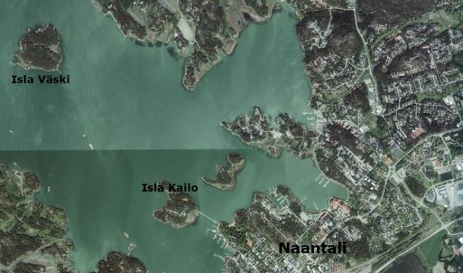 Ubicación de la isla de los Mumins: Kailo y la de aventuras: Väski