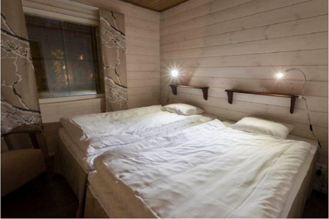 Uno de los dormitorios de los apartamentos