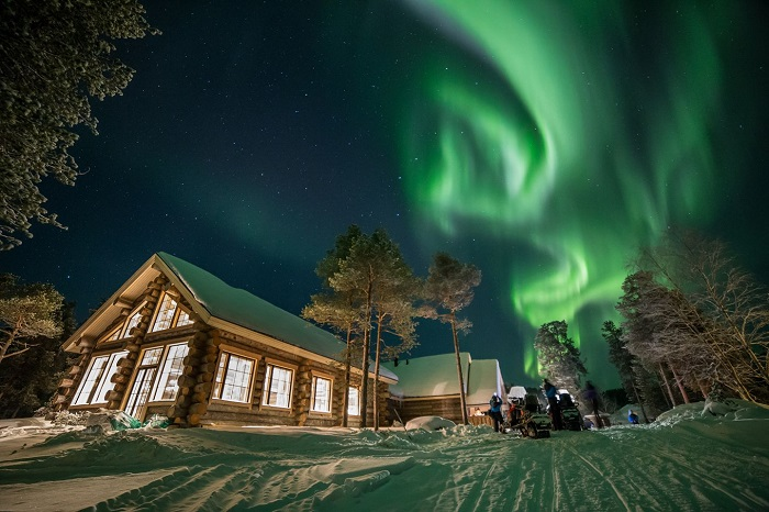 Hotel Nangu, en la orilla del lago Inari.