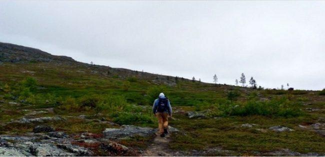 Durante el ascenso a la colina de Otsamo