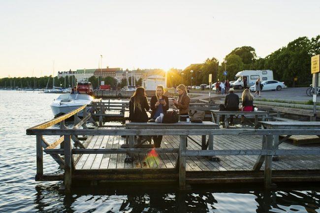 Embarcadero en la isla de Pellinge