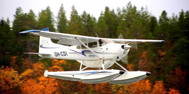 Este es el hidroavión para sobrevolar el lago Inari