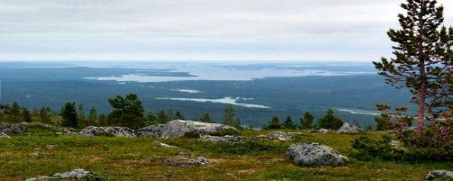 La vista desde la cima de la colina de Otsamo es espectacular