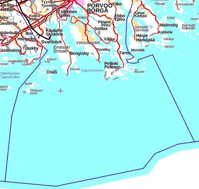 Limite del archipiélago de Porvo