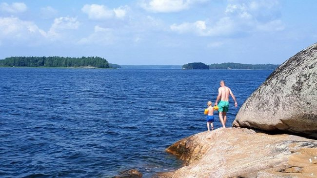 Muchos son los rincones donde darse un baño en el archipiélago de Porvoo