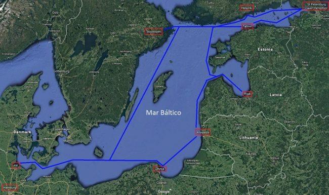 Ruta de un crucero de 10 días por el mar Báltico
