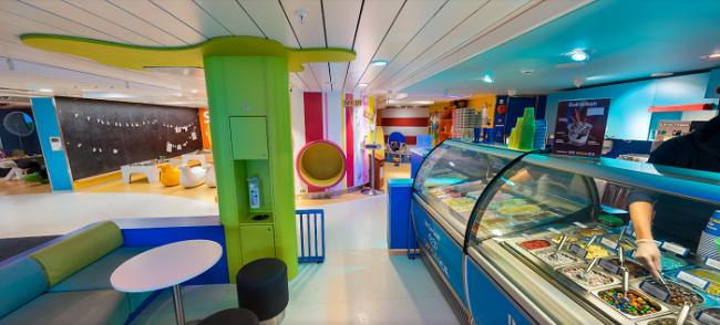 Seguramente el rincón preferido de los niños en el crucero Silja Symphony (foto:TallinkSilja)