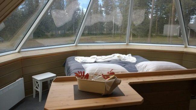 Detalle interior de la Aurora Hut en Pyhä Asteli