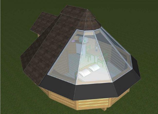 La nueva cabaña con techo acristalado de PyhäAsteli