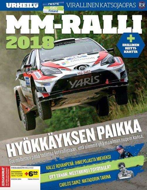 Portada del Programa Oficial del Rally de Finlandia 2018