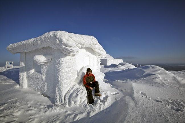 Pyhätunturi. En la parte superior de la estación de esquí de Pyhä