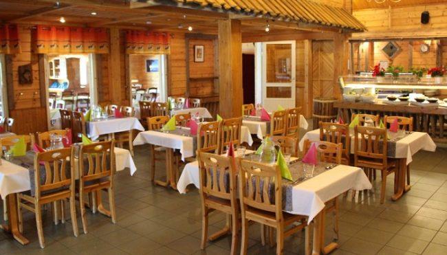 Detalle del restaurante del hotel Harriniva