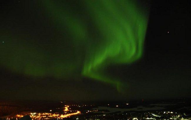 Aurora Boreal en el cielo de Ruka