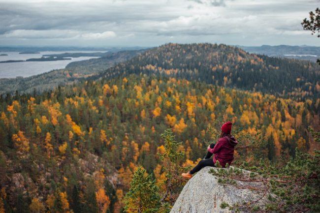En el Parque Nacional de Koli durante el otoño