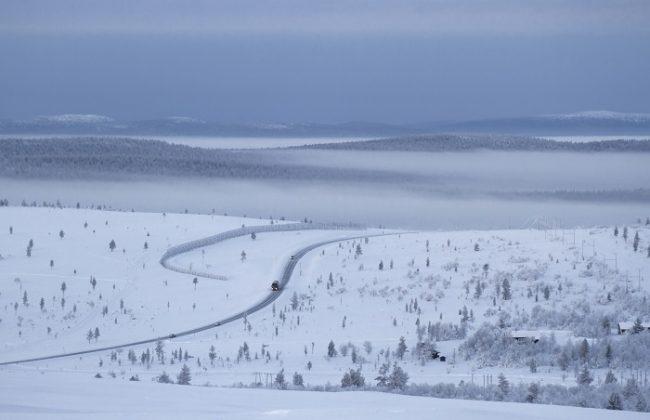 Espectacular vista desde la cima de Kaunispää. Carretera Ivalo-Rovaniemi