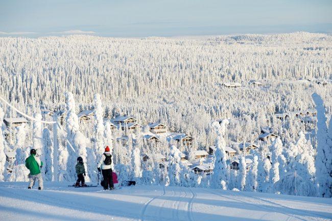 Esquí alpino en Ruka