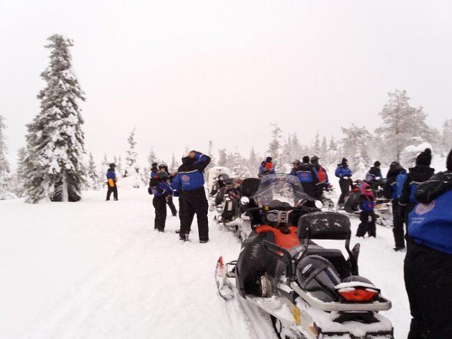 Excursión con moto de nieve en Salla