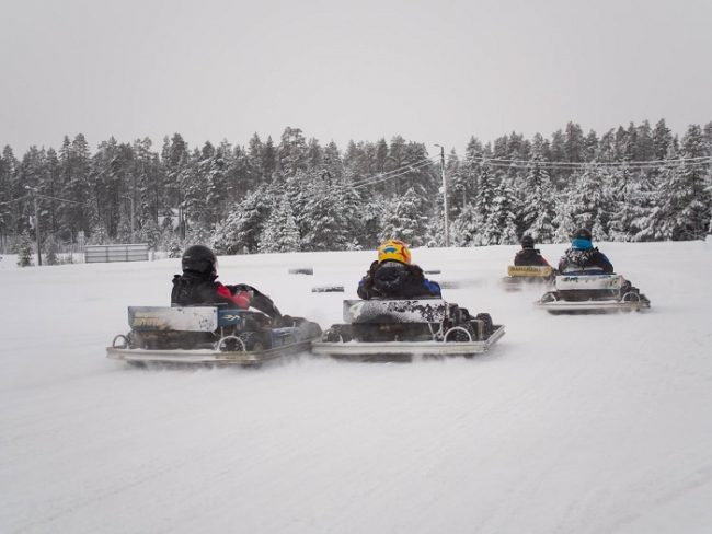 Karting en hielo en Ruka