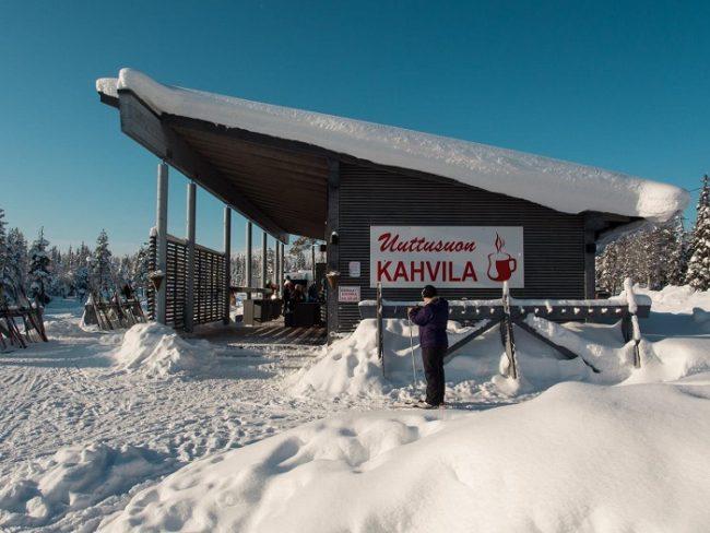 Uno de los Cafés para reponer fuerzas durante la jornada de esquí de fondo
