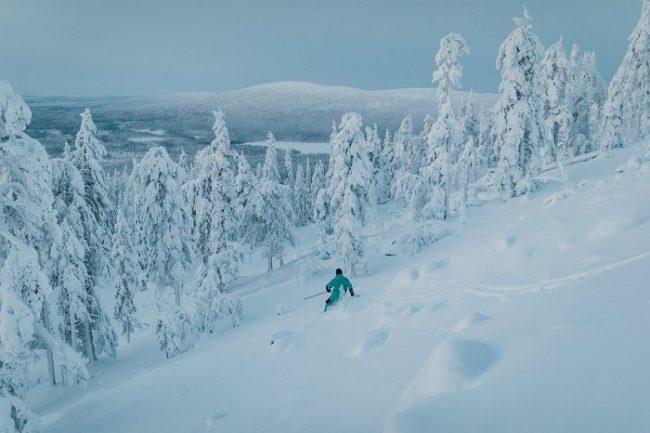 En Levi hay magnificos trazados de esquí fuera de pistas