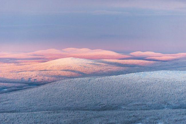 Espectacular vista de la zona de Ylläs y el Parque Nacional Pallas-Yllästunturi