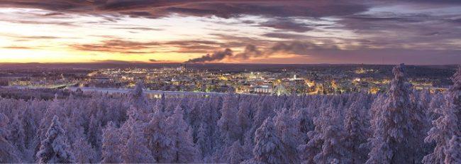 Anochecer en Rovaniemi