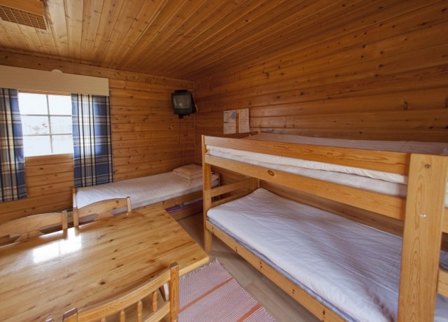 Detalle de la cabaña con ducha en Inari