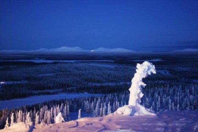 Espectaculares las vistas desde la cima de la estación de esquí de Olos