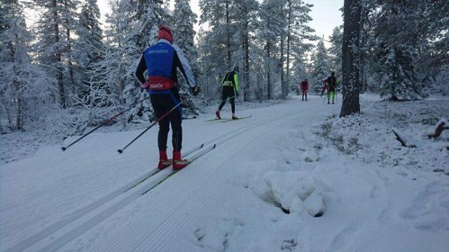 Interminables kilometros de pistas de esquí de fondo rodean la estación de esquí de Olos