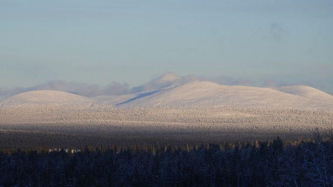 Las montañas del Parque Nacional Pallas-Ylläs vistas desde Olos