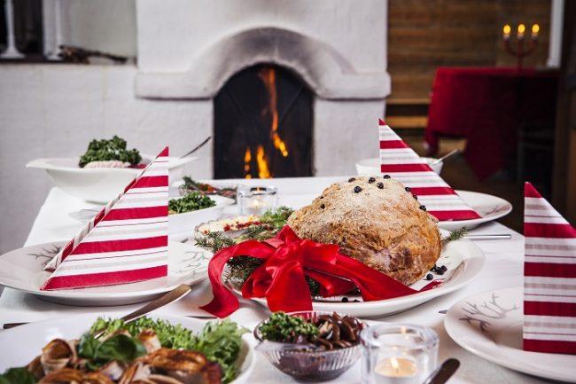 En la cena de Navidad en Finlandia el plato principal es el jamón cocido