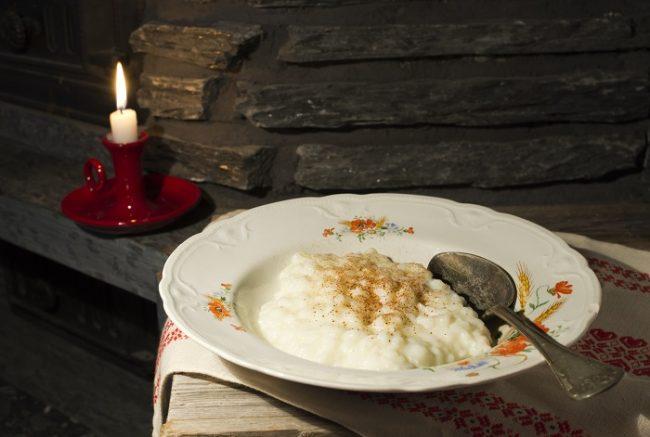 Porridge de arroz cocinado al estilo finlandés