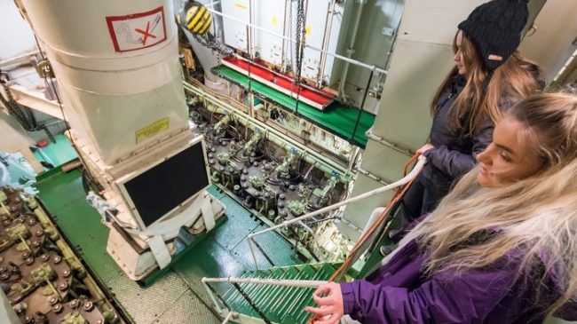 Detalle de la sala de maquinas del rompehielos-Sampo