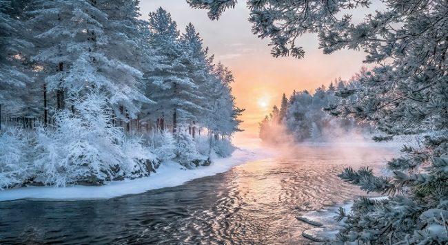 No todos los ríos se congelan durante el invierno en Laponia