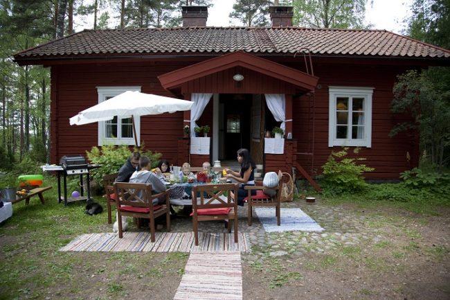 Almuerzo en una cabaña de Särkisalo