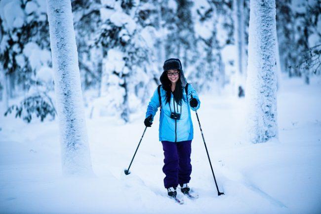 Esquí de fondo en Kakslauttanen, muy cerca de Saariselkä