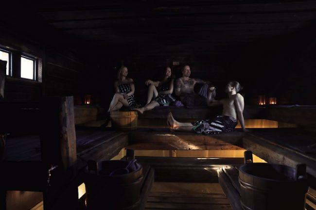 La sauna es muy relajante y forma parte de la vida de los finlandeses