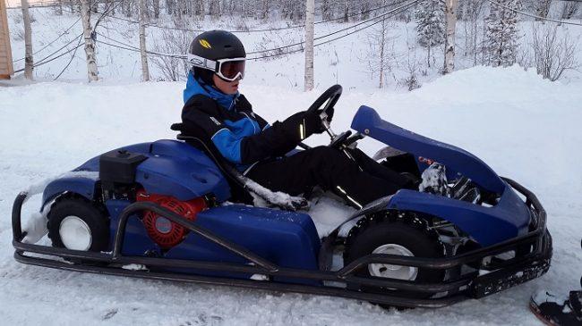 Preparado para disfrutar del karting en el hielo