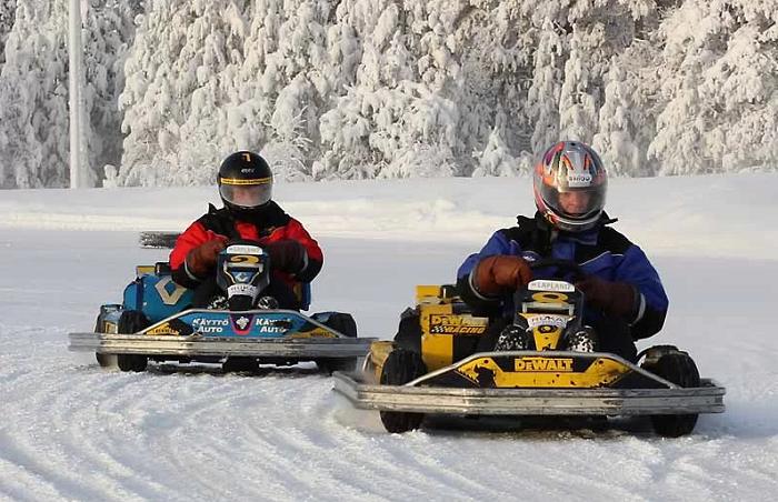 Karting en el hielo en Laponia